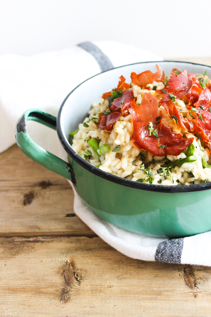 Prosciutto, Asparagus & Thyme Risotto|thefoodiesway.co.uk