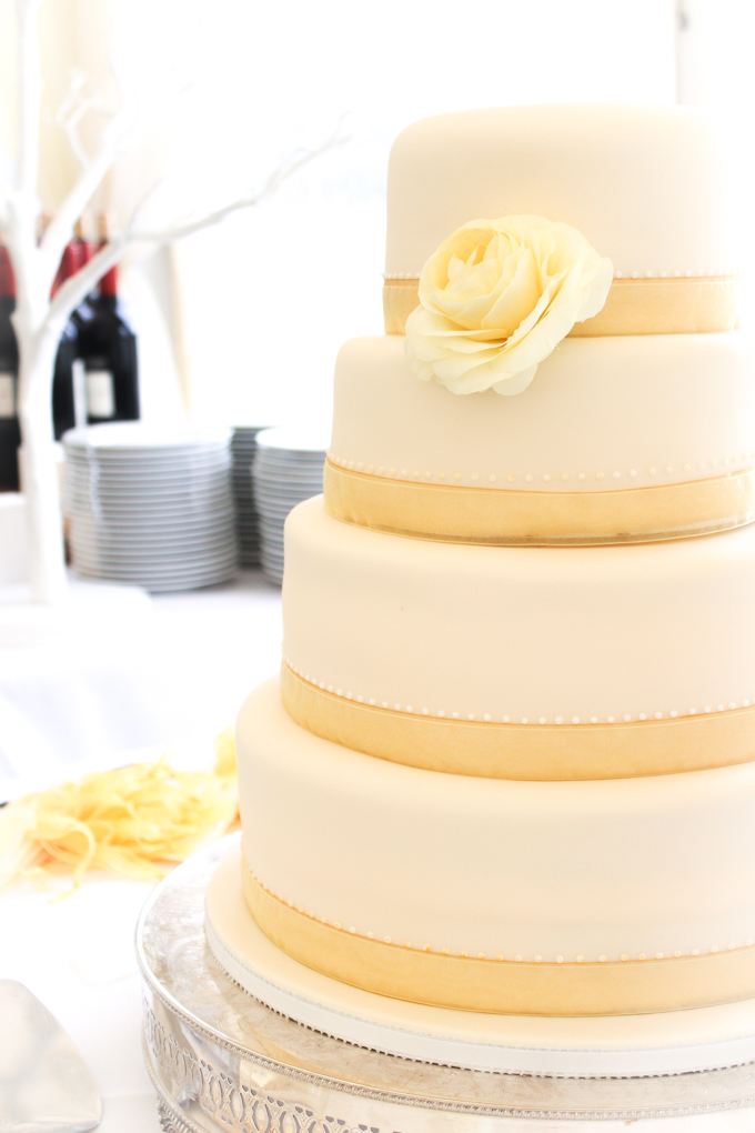 Pearl, rose, gold wedding cake |thefoodiesway.co.uk