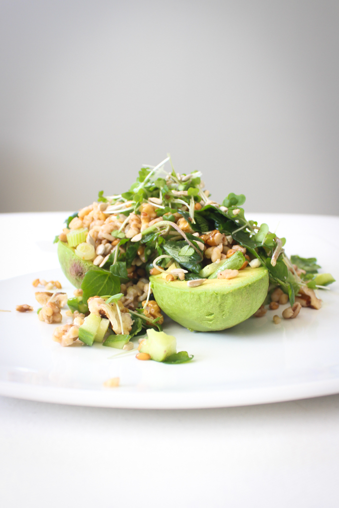 Avocado, Spelt and Watercress Salad|thefoodiesway.co.uk