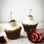 Cherry and Amaretto Cupcakes |thefoodiesway.co.uk