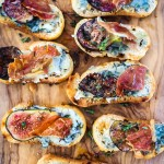 Thyme Fig, Gorgonzola + Parma Ham Shards Crostini |thefoodiesway.co.uk