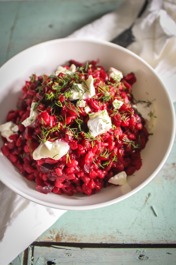 Beetroot Pearl Barley Risotto|thefoodiesway.co.uk